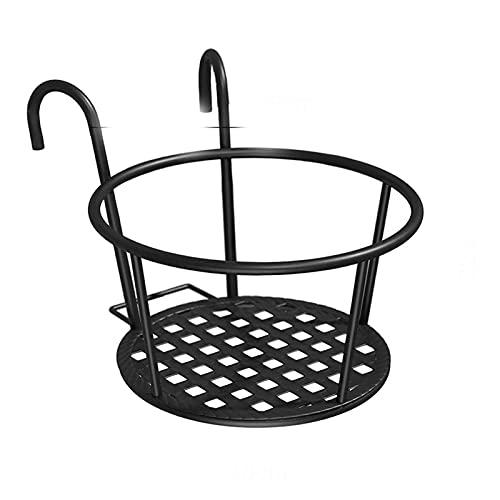 Cesta Colgante de la colgada de la Maceta del Hierro, la Flor del balcón del jardín Bonsai Blonsai Basking Basket Hierro, Soporte de Maceta Soporte de Gancho (Color : Plum)