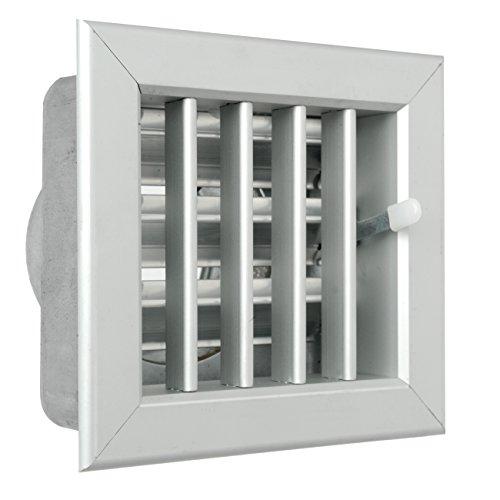La Ventilazione GCSIAL1413100 - Rejilla empotrable para chimeneas, de aluminio, 140 x 130 mm