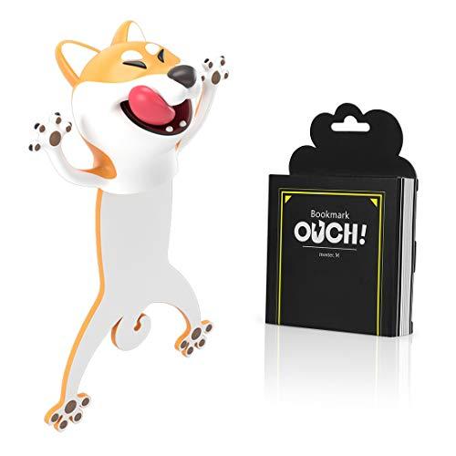 Witzige 3D Stereo Cartoon schön Tier Lesezeichen Lustiges Geschenk für Studenten Kinder tolles Geschenk (Hund)