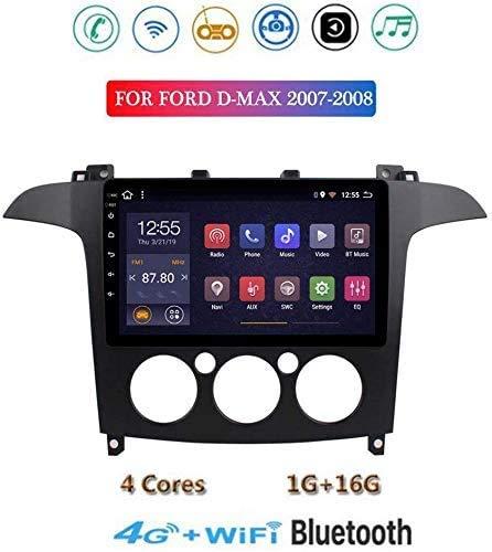 Android 8.1 Radio de navegación GPS, Equipo de música táctil Pantalla del televisor 9'Ford D-MAX 2007 2008, con Las Llamadas al Volante de Manos Libres Bluetooth Espejo conexión USB de c.