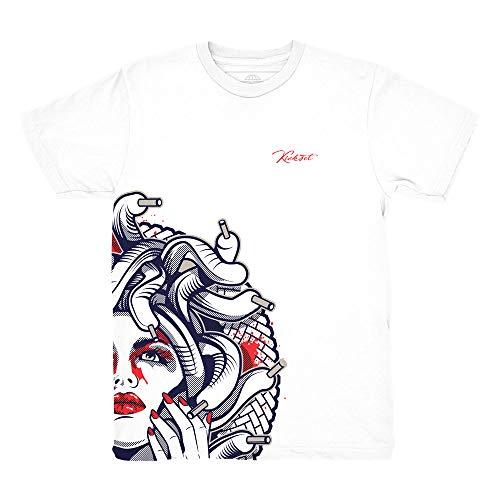 Price comparison product image Tinker 6 Medusa Half Face Shirt to Match Jordan 6 Tinker Sneakers (Large)