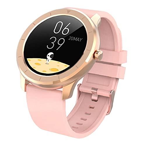 Tuimiyisou Inteligente Reloj del Deporte del rastreador de Ejercicios Impermeable T6 Completa, rastreador de Ejercicios con Pink Detección de Pantalla Blood Pressure OxygenTouch la Pulsera del Reloj