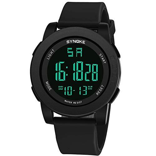 WXDP waterdicht horloge voor heren, multifunctioneel sporthorloge, gepersonaliseerde mode-studenten elektronische horloge, lichtinval, week, alarm
