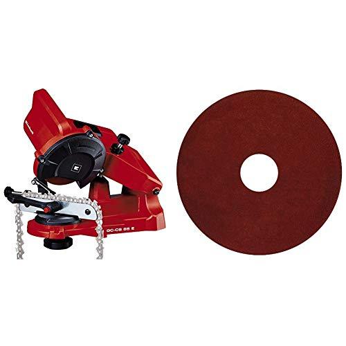 Einhell Affûteuse de chaîne de tronçonneuse électrique GC-CS 85 E (85 W, Epaisseur de la meule 3,2 mn, Dispositif de serrage, Livrée avec 1 meule abrasive) & Meule abrasive de rechange 3,2 mm