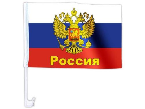 Alsino Eine WM Länder Auto Fahne Autoflagge Autofahne Fahne Auto Länderflagge Auto Fenster Flagge, wählen:AFL-18 Russland