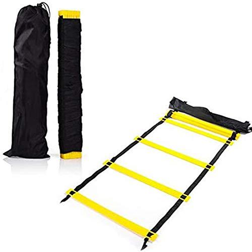 Training snelheid op lange termijn agility ladder voetbal fitness verstelbare jump 6 meter 12 secties met handtas