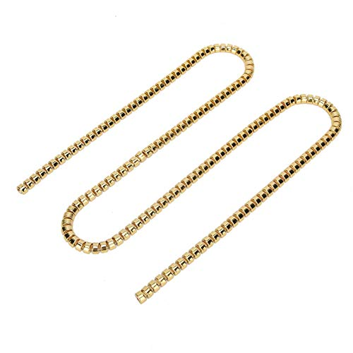 Decorative Chain, and Shiny Metal Claw Chain, for Home Necklaces Wedding Dresses Clothes(8mm Golden Steamed bun Chain)