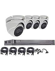 5 MP CCTV beveiligingssysteem van Hikvision, 4 K DVR 4 CH 1 TB H.265 en HIK 5 MP 2,8 mm outdoor camera, nachtzicht uitrusting, Britse verkoper, DS-7204HUHI-K1 DS-2CE56H1T-ITM