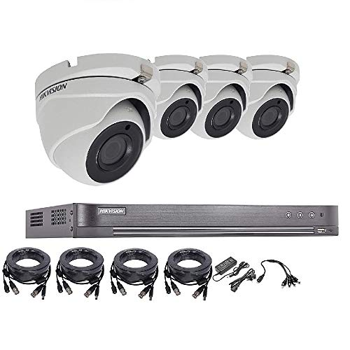 Hikvision 5MP 4K del sistema di sicurezza CCTV DVR 4CH 1TB H.265+ Hik 5MP 2.8mm telecamera esterna di visione notturna kit venditore UK ds-7204huhi-k1ds-2ce56h1t-itm