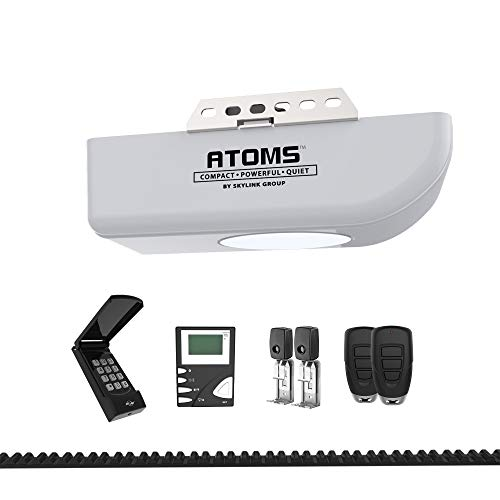 Skylink ATR-1723BK 3/4 HPF Garage Door Opener with Extremely Quiet DC Motor, Belt Drive, Built-in LED Light, Remote Controls, Premium LCD Wall Console and Wireless Keypad