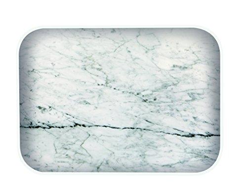 Zak designs 1303-110 Plat eau Plastique Marbre/Blanc 28 x 20 cm