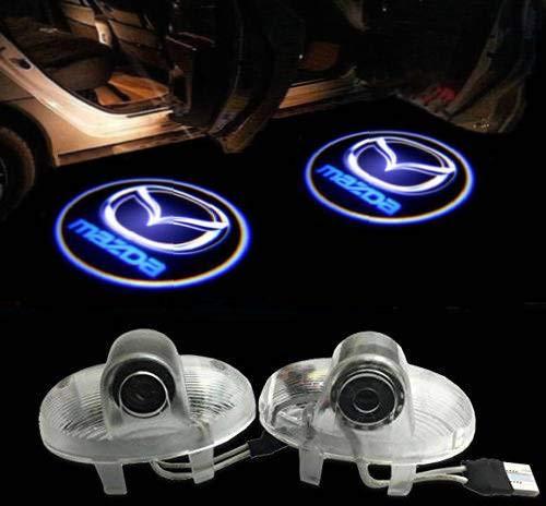 Sunshine Fly 2 Stück Autotür Laser Projektor Türbeleuchtung Logo Beleuchtung KFZ Türen Einstiegsbeleuchtung LED Laser Door Willkommen Logo Projektion Tuerlicht 3D Dekoration
