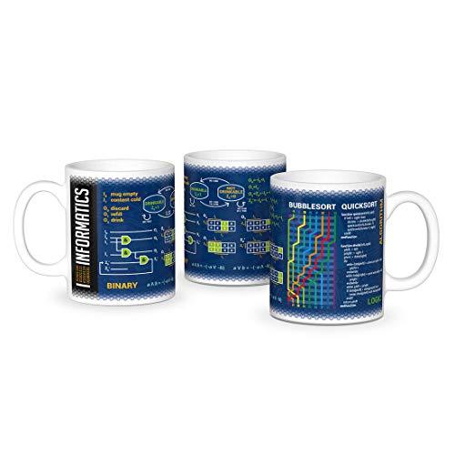 getDigital Wissenschaftsbecher Informatik 430 ml - Perfekte Kaffeetasse für Schüler, Studenten, Informatiker und andere Wissenschaftler - Keramik