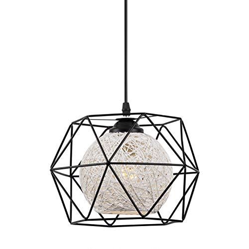 EYLM Lampada a Sospensione E27 Lampadario Industriale Retro con LED lampadina,Adatto per Cafe, Bar, Cucina, la Sala da Pranzo e Camera da Letto [Classe di efficienza energetica A+]