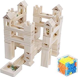 Entregando amor e paz 考える力を育てる木製ブロック ビー玉転がし 80pcs 知育玩具