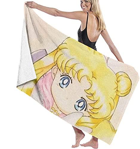 Sailor Moon - Toalla de playa, secado rápido y suave, multiusos, para interior y camping (M5,80 × 180 cm)