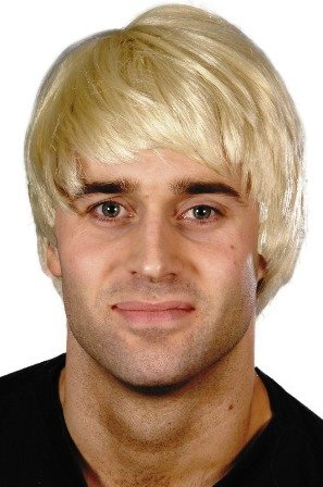 Smiffys mens Guy Costume Wig, Blonde, One Size US