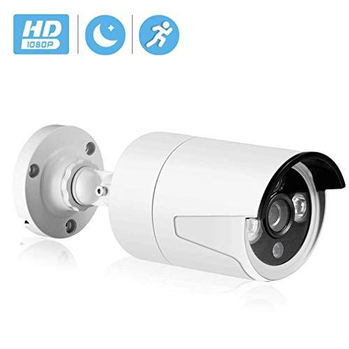 WYJW PoE IP-Kamera 2MP Super HD-Überwachungskamera Bullet mit Audio- und Micro-SD-Kartensteckplatz, für den Innen- und Außenbereich IP66 wasserdicht, mit IR-Nachtsicht, Bewegungserkennu