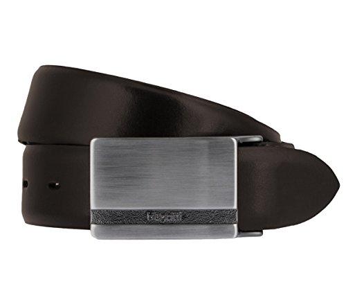 bugatti Correas de los hombres Cinturón de cuero marrón, Talla:95 cm;color:marrón