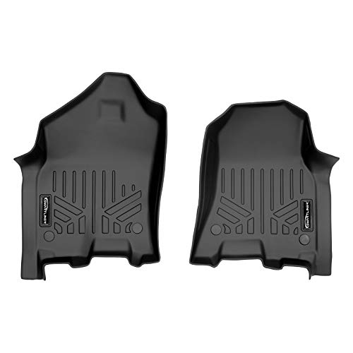 MAXLINER Floor Mats 1st Row Liner Set Black for 2019-2021 Ram 1500 Crew and Quad Cab with Captain or Bench Seats