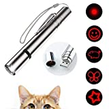 Vidence 7 in 1 Cat Interactive Toys Wand, Cat LED Pointer, Cat Toys Teaser Wand USB Rechargeable Flashlight + Red Light + UV Light, Pet Training Tool for Cat Dog Chaser, Idea Gift