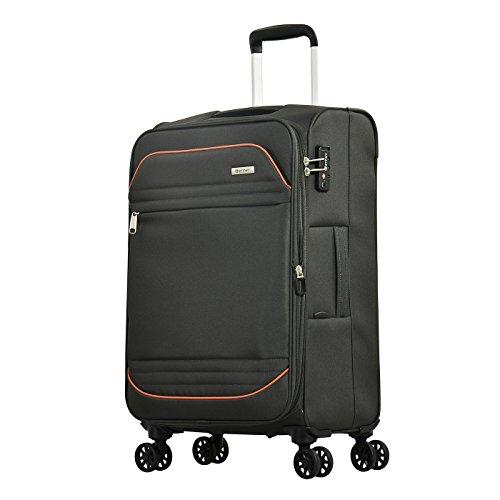 Eminent Koffer Barcelona 67 cm 63/72 L Lichtgewicht 4 Stille dubbele wielen TSA-slot Grijs