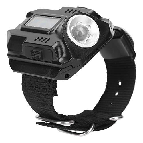 Linterna de Reloj portátil de Carga USB, Linterna, Senderismo para Acampar