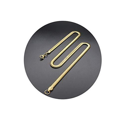 Aeici Collares Hombre Acero Inoxidable Cadena Serpiente Collar para Hombres Oro Largo 50Cm