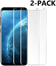 [2-Pack] Galaxy S8 Plus Screen Protector, TEIROO Tempered Glass Screen Protector with 9H Hardness,Easy Bubble-Free Installation,Anti-Scratch Compatible with Samsung Galaxy S8 Plus.