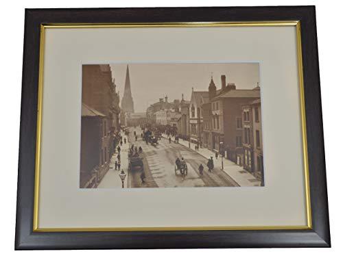 Impression encadrée de la Rue Hereford in Herefordshire c1890 - Photo Vintage