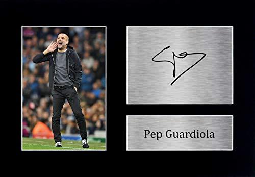 HWC Trading PEP Guardiola A4 Ungerahmt Signiert Gedruckt Autogramme Bild Druck-Fotoanzeige Geschenk Für Manchester City Fußball Fans
