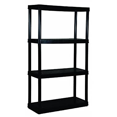 Adjustable 4-Shelf Medium Duty Shelving Unit