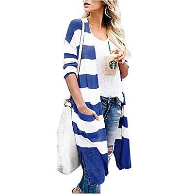 Amazon - Save 65%: Alsol Lamesa Cardigan Sweater for Women,Open Front Cardigan Color Bloc…