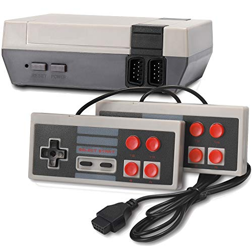 Arrocent Retro Game Console, Classic Mini Video Games Consoles with 620 Games Built in 2 Controllers for NES Style - AV Output