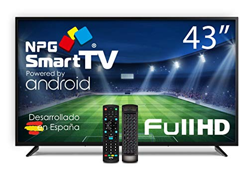TV NPG LED 43' Full HD, Smart TV Android + Telecomando con QWERTY/Motion, Wi-Fi, Bluetooth, DVB-T2 H.265, PVR