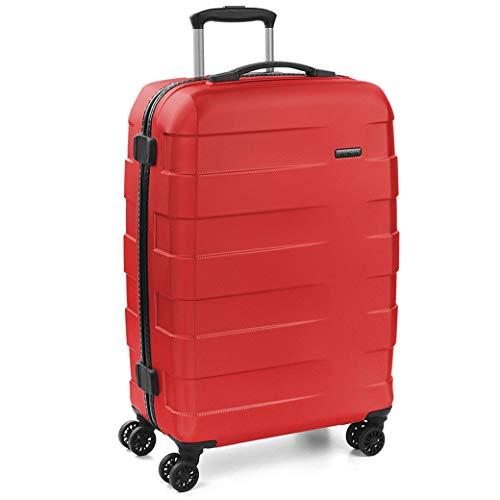 [ロンカート] スーツケース Lサイズ RV-18 イタリア製 4輪 TSAロック 軽量 ハード ファスナー 大型 97L 高さ77cm 3.6kg 5801 レッド