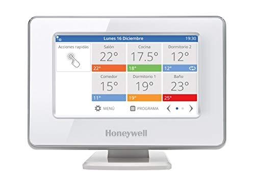 Honeywell Home THR99C3100 Termostato Inteligente evohome WiFi, Ahorra energía y Dinero, con aplicación móvil, Compatible con Google Home e IFTTT, Blanco (1 Unidad)