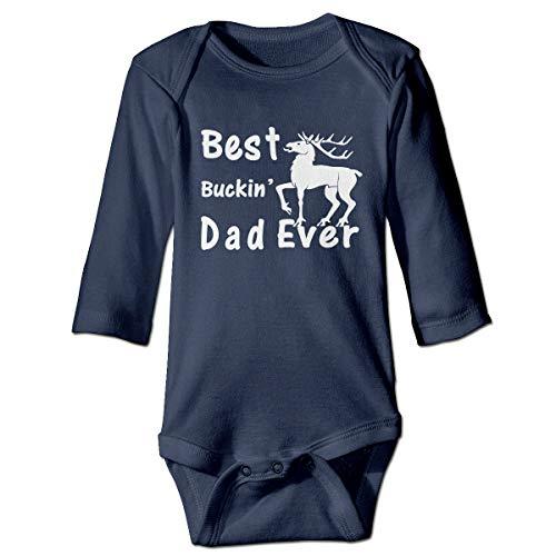 U are Friends Bébé Barboteuse bébé à Manches Longues pour bébé Buckin 'Dad Ever Newborn Girl Boy Boy(2T,Marine)