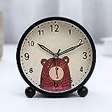 Luxuryclock Silent Alarm Clock Student'S Creative Lovely Cartoon Night Light Bedside Simple Clock Bedroom Electronic Metal Alarm Meter,Winnie The Pooh