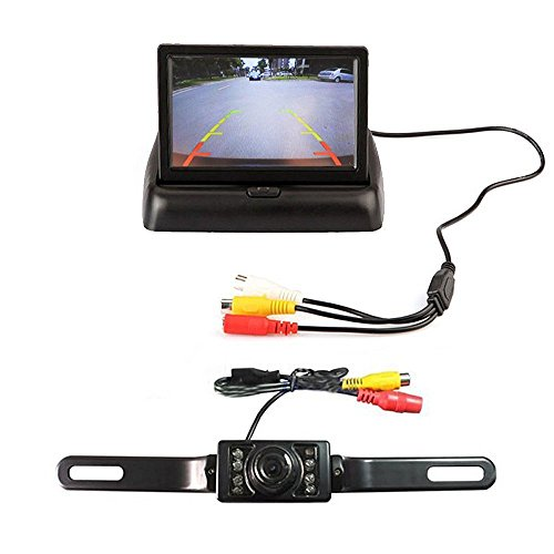 4.3 'Monitor LCD pieghevole TFT Sistema della macchina fotografica di retrovisione dell'automobile di visione notturna di visione notturna di visione notturna di sostegno di Backup +7pcs LED