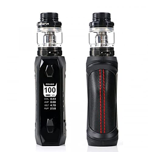 Geekvape Aegis Solo Kit  100W Aegis Solo Box Mod con 5.5ml Cerberus Subohm serbatoio E-Sigaretta Vape Fit 18650 batteria (nero) senza nicotina