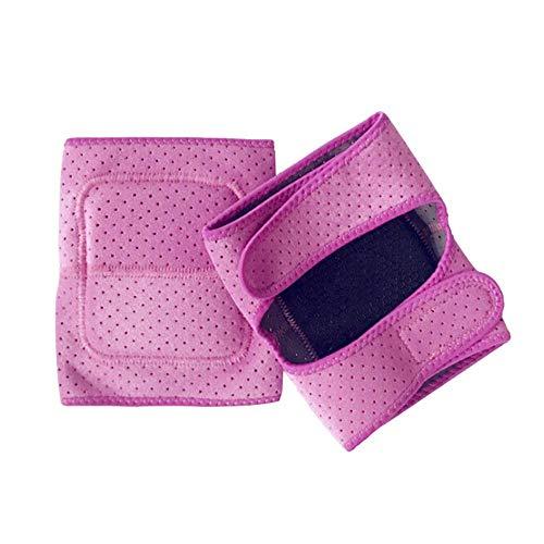 LINBUDAO 1 paar kniebeschermers sport kniebeschermers zwart/roze beschermende uitrusting antislip anti-collision schokdemper beschermende uitrusting