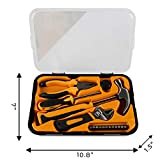 BIGTREE 17 Piece Household Tool Set Includes Hammer Claw Wrench Screwdriver Bits Pliers for House and DIY Projects