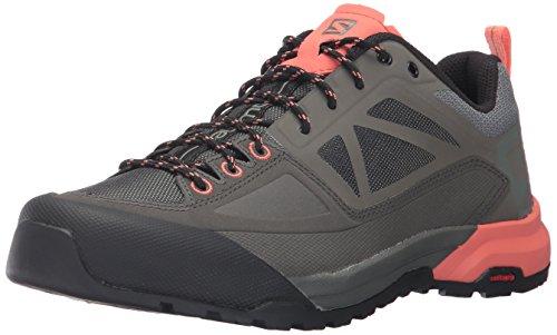 Salomon X ALP SPRY W, Zapatillas de Treckking para Mujer, Gris (Castor Gray/Beluga/Living Coral 000), 36 2/3 EU