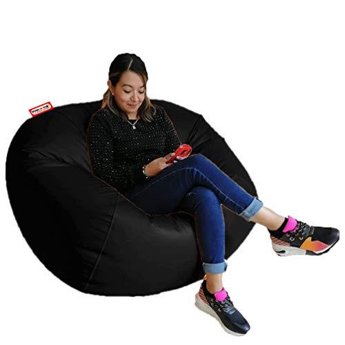 Sillon Puff Esfera Jumbo Color Negro 110cm de diametro