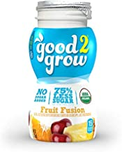 good2grow Organic Low Sugar Fruit Fusion Juice Refill, 24-pack of 6-Ounce BPA-Free Juice Bottles, Non-GMO and USDA Certified Organic with 75% Less Sugar, for use with our Spill-Proof Character Toppers