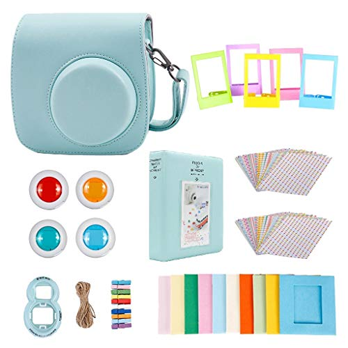 #N/A 6 Farben Zubehör Set Bundle Für Instax Mini 8 Sofortbildkamera - Eisblau