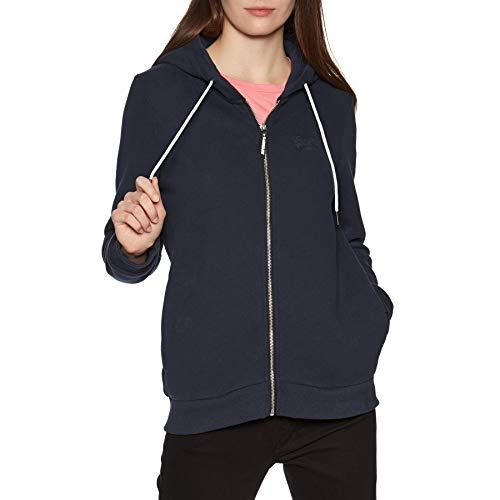 Superdry Orange Label Elite Womens Zip Hoody UK 6 Reg French Navy