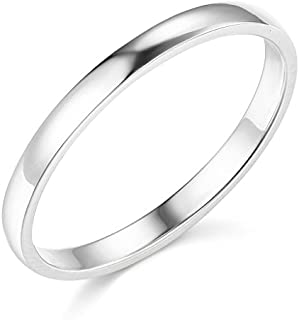 Best 2mm 14k white gold band Reviews