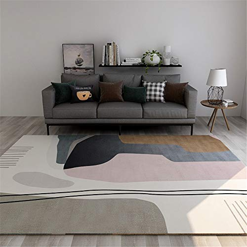 Michance Nordic Non-Slip And Moisture-Proof Carpet, Superfine Fiber Simple Wear-Resistant Thick Waterproof And Mite-Removing Floor Mat, Suitable For Living Room Sofa, Home Bedroom Bedside, Hotel